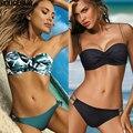 2020 Sexy Einfarbig Bikini Frauen Bademode Bandeau Biquini Badeanzug Weibliche Badeanzug Push Up Bikini Set Bademode
