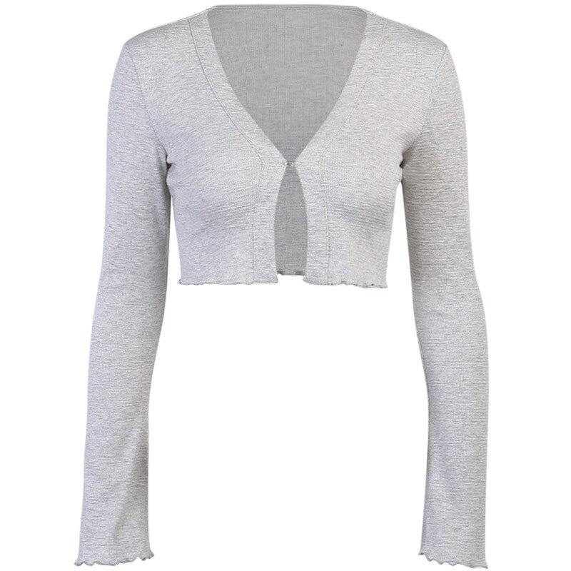 Купить осенняя однотонная базовая вязаная рубашка с длинным рукавом