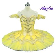 Adult Yellow Professional Ballet Tutu Pancake Classical Romeo and Juliet Performance Stage Competition Ballerina Costumes