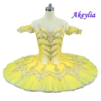 Adult Yellow Professional Ballet Tutu Pancake Classical Romeo and Juliet Performance Stage Competition Ballerina Stage Costumes aqua blue professional ballet tutu pancake classical ballet tutu performance stage competition ballerina blue stage platter tutu