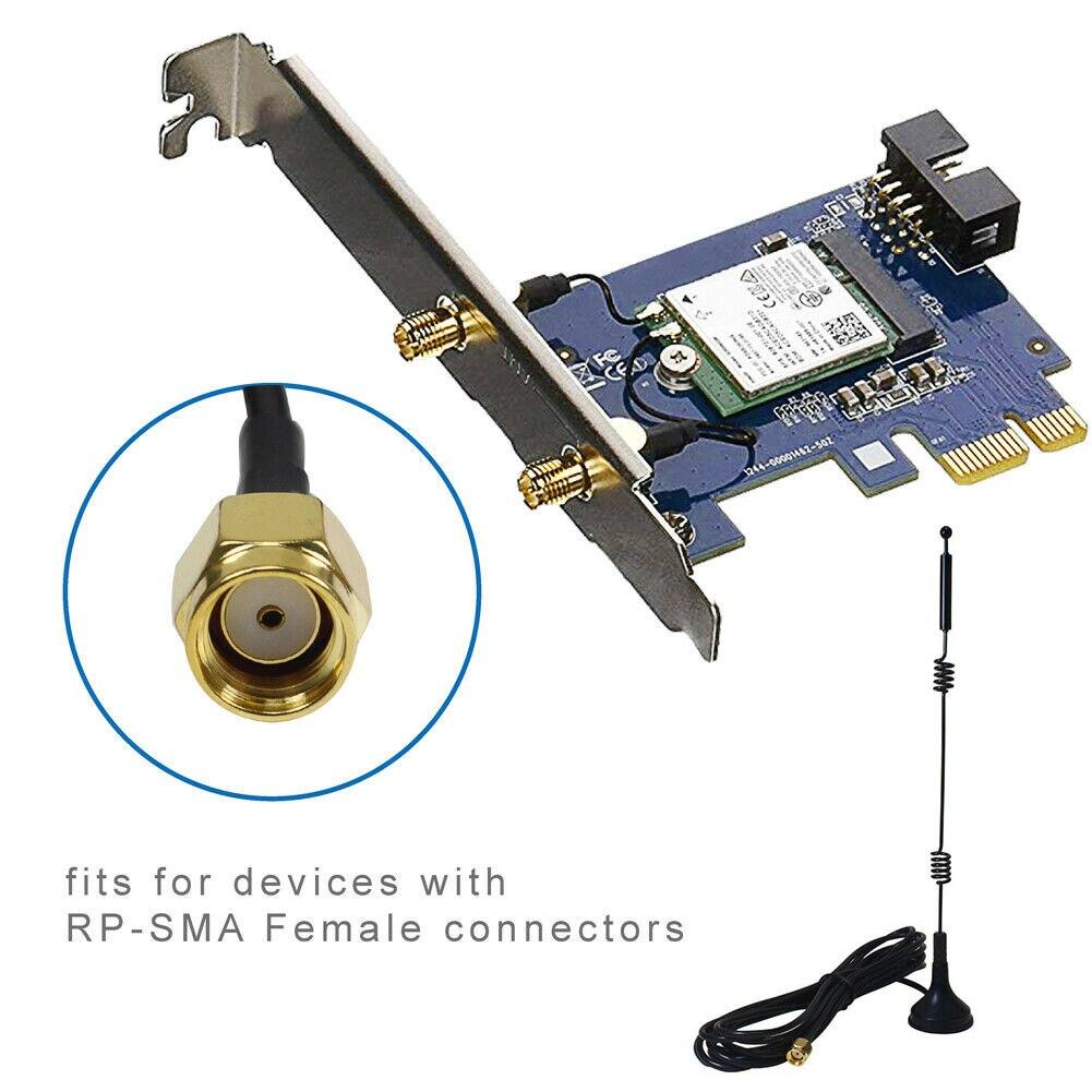 Antenne 12dBi RP-SMA 2.4GHz/5GHz WiFi double bande pour caméra IP sans fil
