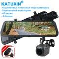 KATUXIN 10 1296P Touch Dash cam Recorder Night Vision Dual Lens Stream Media Mirror Recorder Camera Car DVR H21M
