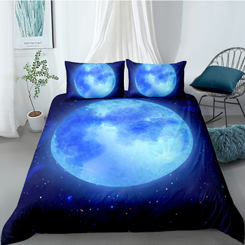 Beautiful Moon Bedding Set King Size Stars Fresh Fantasy 3D Duvet Cover Queen Twin Full Single Double Unique Design Bed Set