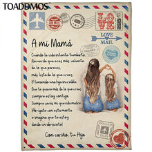 Toaddmos um mi mamá-velo cobertor pré mi um carta para minha mãe expressar amor versão espanhola cobertor fino presente do dia das mães