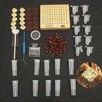 155 قطعة من البلاستيك الملكة تربية نظام زراعة صندوق أكواب خلية النحل الماسك قفص معدات تربية النحل