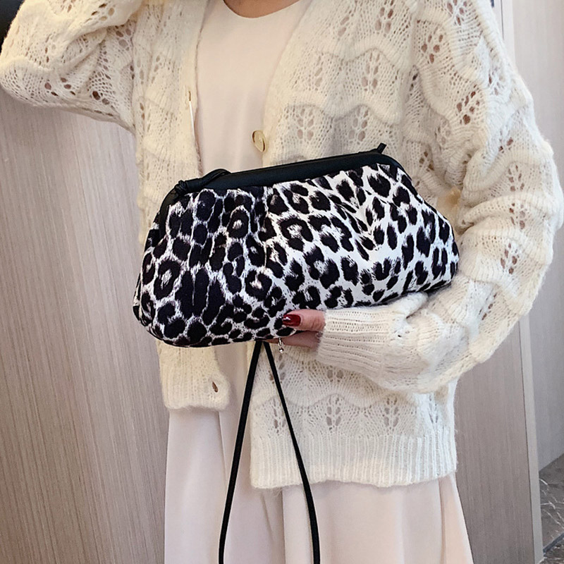 CCRXRQ Women's Leopard Shoulder Bags 2019 New Fashion Messenger Bag Brand Designer Crossbody Bags Female Shopping Storage Bag