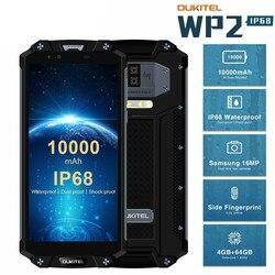 OUKITEL WP2 10000 мАч IP68 водонепроницаемый ударопрочный мобильный телефон Android 8,0 4 Гб + 64 Гб Восьмиядерный 4G смартфон 16MP NFC сотовые телефоны