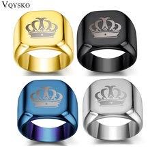 Модное кольцо в стиле хип хоп с короной мужские аксессуары винтажное