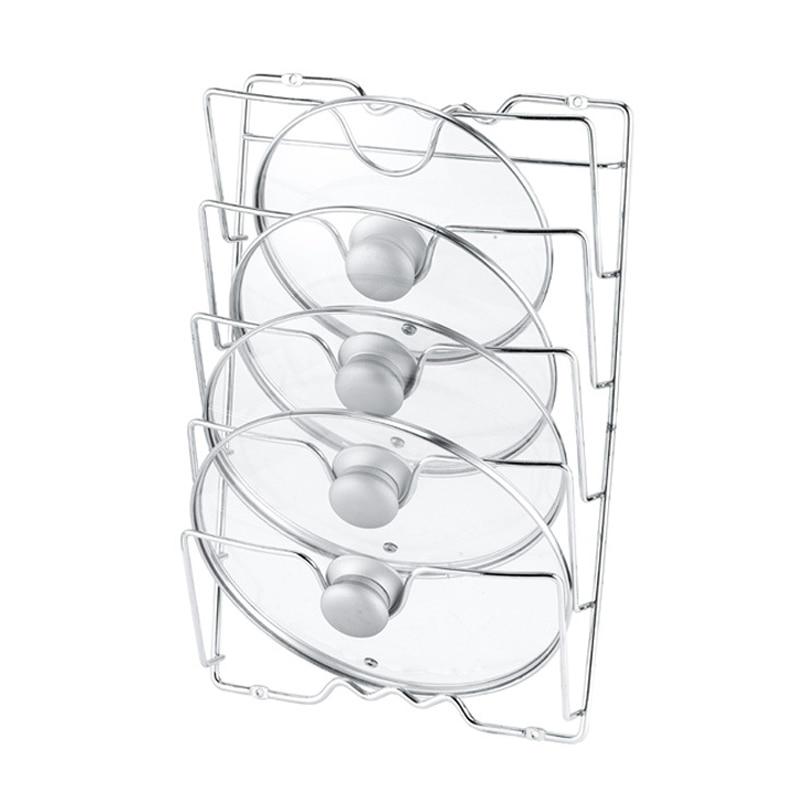 Pan Lid Storage Rack Wall Mount Pot Cover Organizer Holder Kitchen Accessories JA55