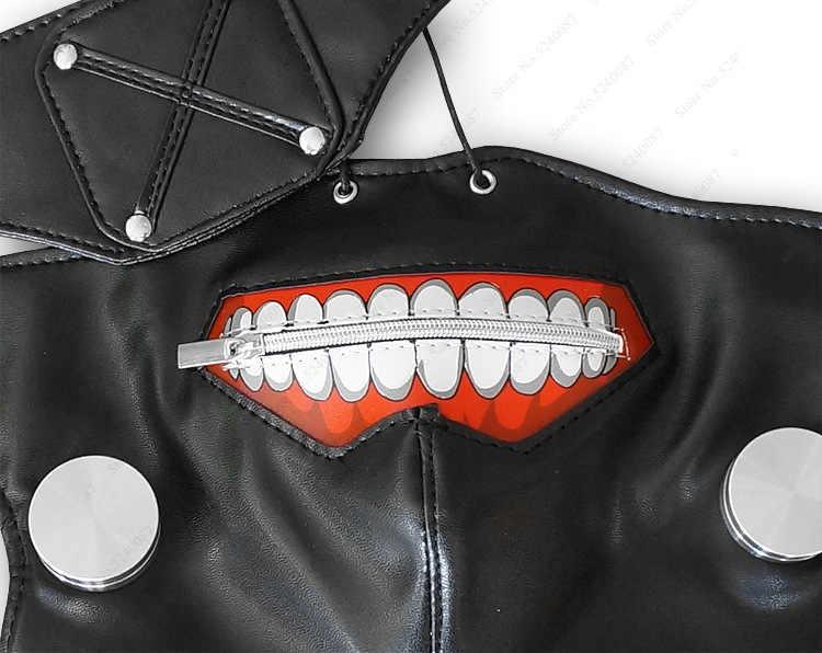 Halloween Nhật Bản Tokyo Ghoul Trắng Tóc Giả Ken Kaneki Mask Dây Kéo Anime Nhật Bản Cosplay Mắt Khẩu Trang Chống Đỡ Tặng Mũ Đảng Đáng Sợ trang phục
