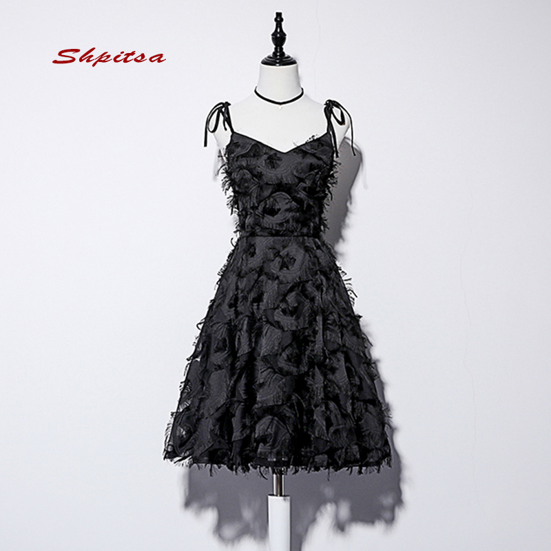 Little Black Short Cocktail Dresses Women Girl Mini Evening Prom Coctail Homecoming Formal Party Dresses