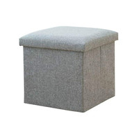 Cotton And Linen Storage Stool Reinforcement Shoe Bench Can Sit People Storage Box Folding Storage Stool Sofa Stool|Home Office Storage|Home & Garden -