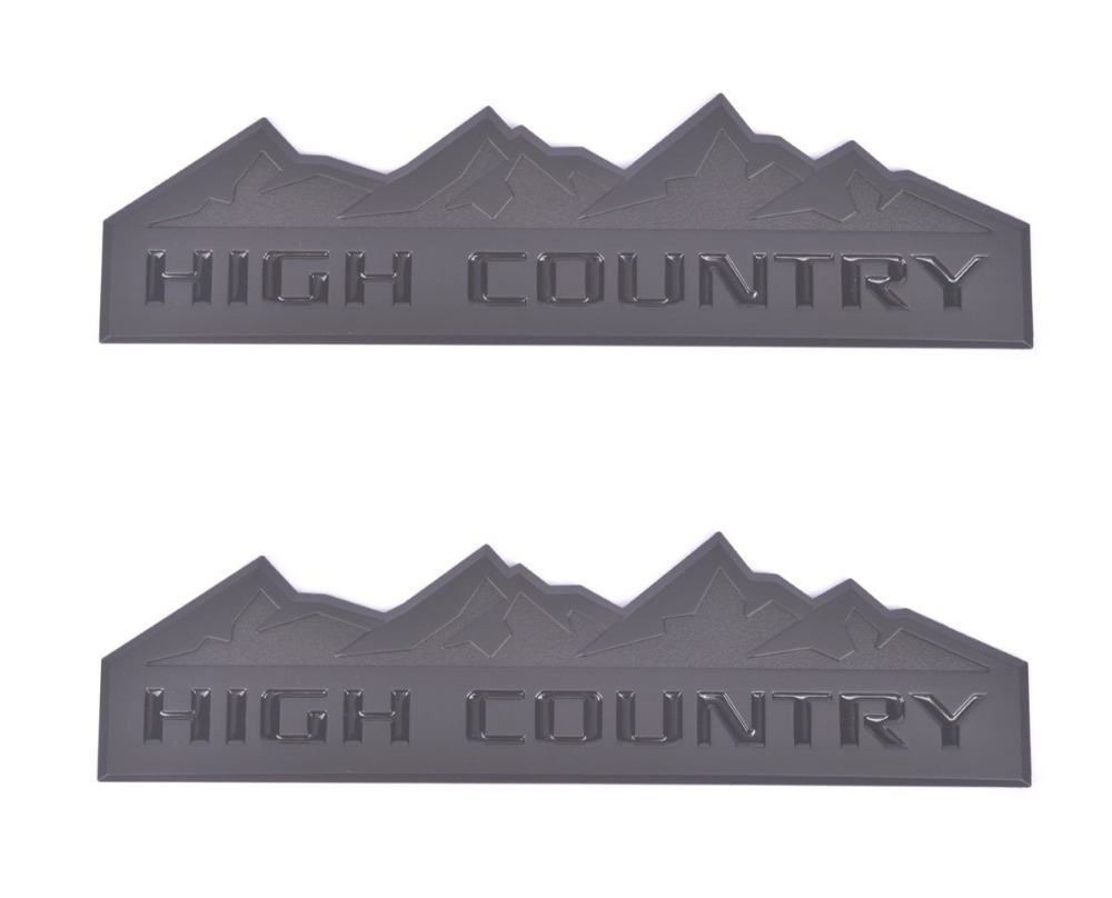 High Country Emblem,for Badges Door Tailgate 3D Nameplate For  Silverado 1500 2500HD Sierra 3500HD
