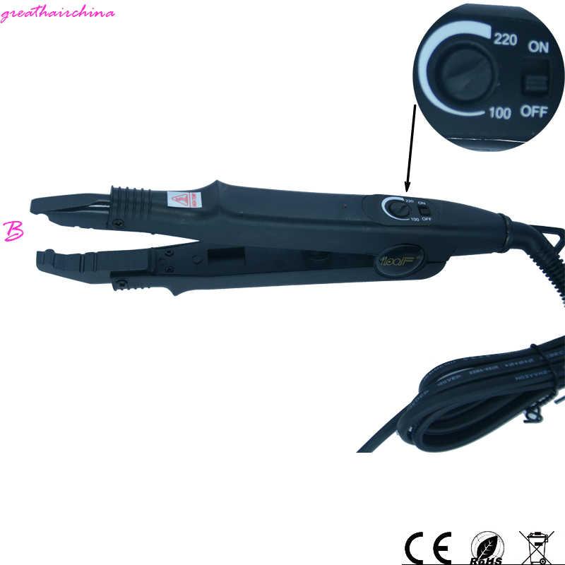 Venta al por menor Loof Control de temperatura Color negro fusión extensión de cabello hierro/contactor GH-HC611 para queratina sedoso pelo lacio