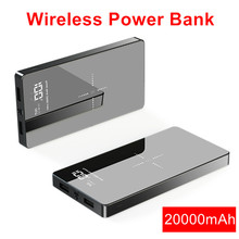 20000mAh Wireless Power Bank Qi External Battery Charger For