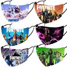 Fortnite – masque buccal pour adultes et enfants, bavette de protection, anti-gouttelette, agrippante, neigionaire, mode Battle Royale, Mascarilla