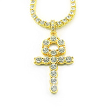 Mosaic Crystal Cross Pendant 60CM Chain Long Full Body Necklace Hip Hop Cool Fashion Jewelry Gift