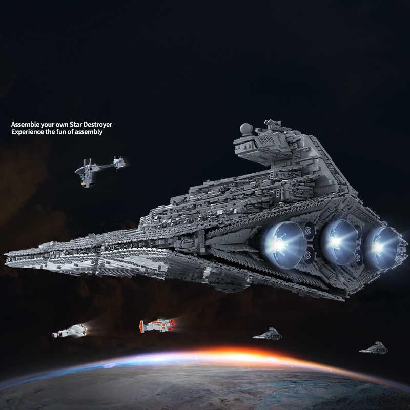Star Giocattoli Wars Ultimate Collector Max Imperiale Destroyer 11185pcs Blocchi di Costruzione MOC-23556 Mattoni Regali Per I Bambini Bambini