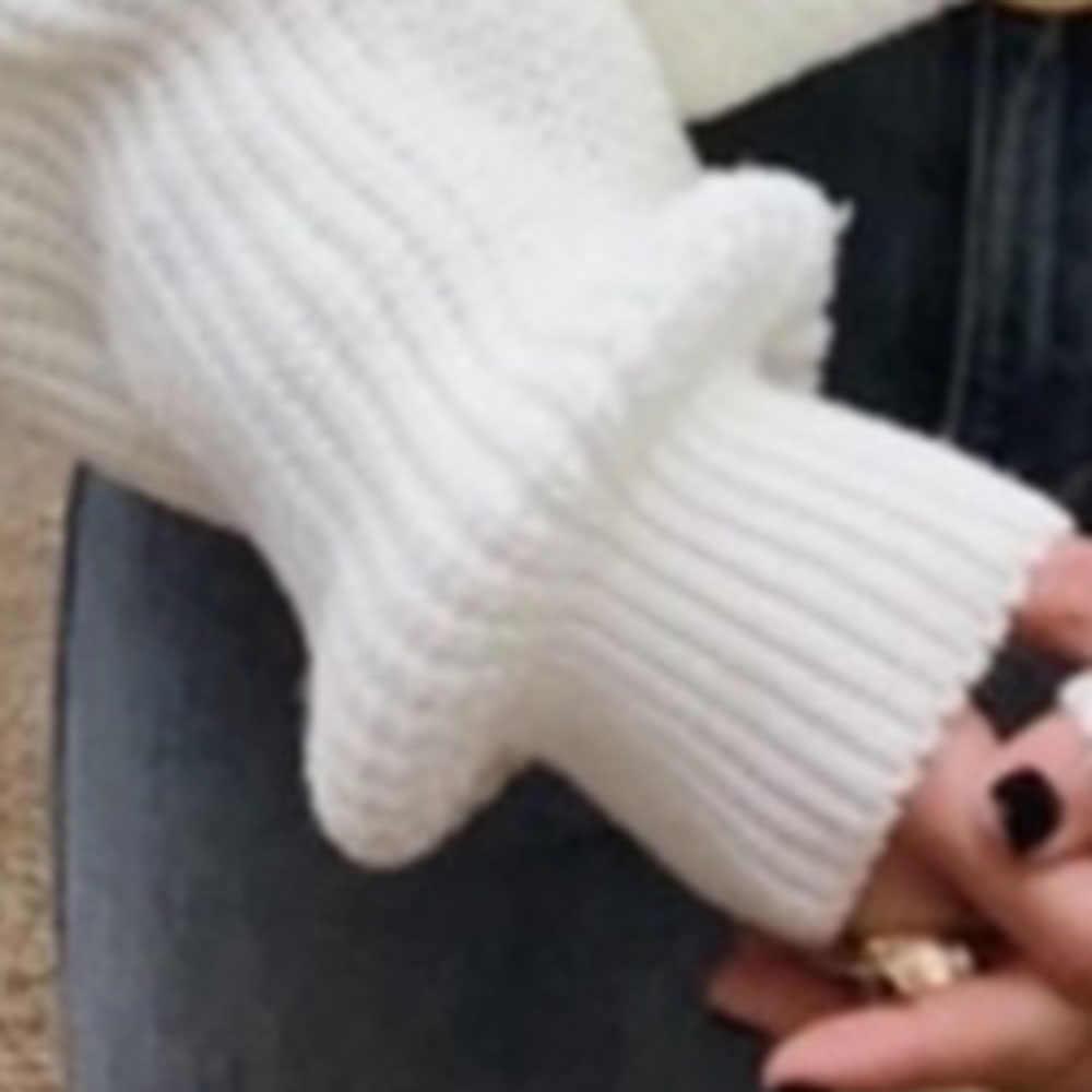 Зимний Кардиган женский трикотажный свитер Рождественский чистый белый милый вязаный свитер женский теплый сексуальный модный джемпер с v-образным вырезом 2019