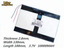 Tablet PC talk9x u65gt, batteria 28*130*188 3.7V 10000 mah Li batteria agli ioni di per