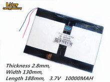 Tablet PC talk9x u65gt, batterie 28*130*188 3,7 V 10000 mah Li ion batterie for