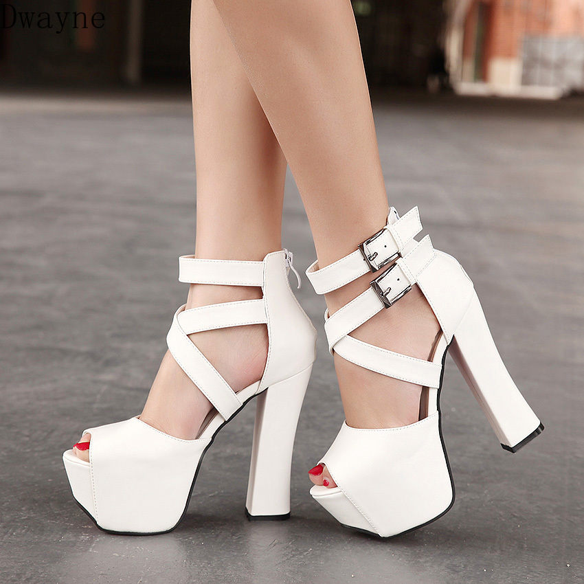 2020 New Super High Thick With Sexy Thick With Fish Mouth Fish Mouth Cool Shoes Women