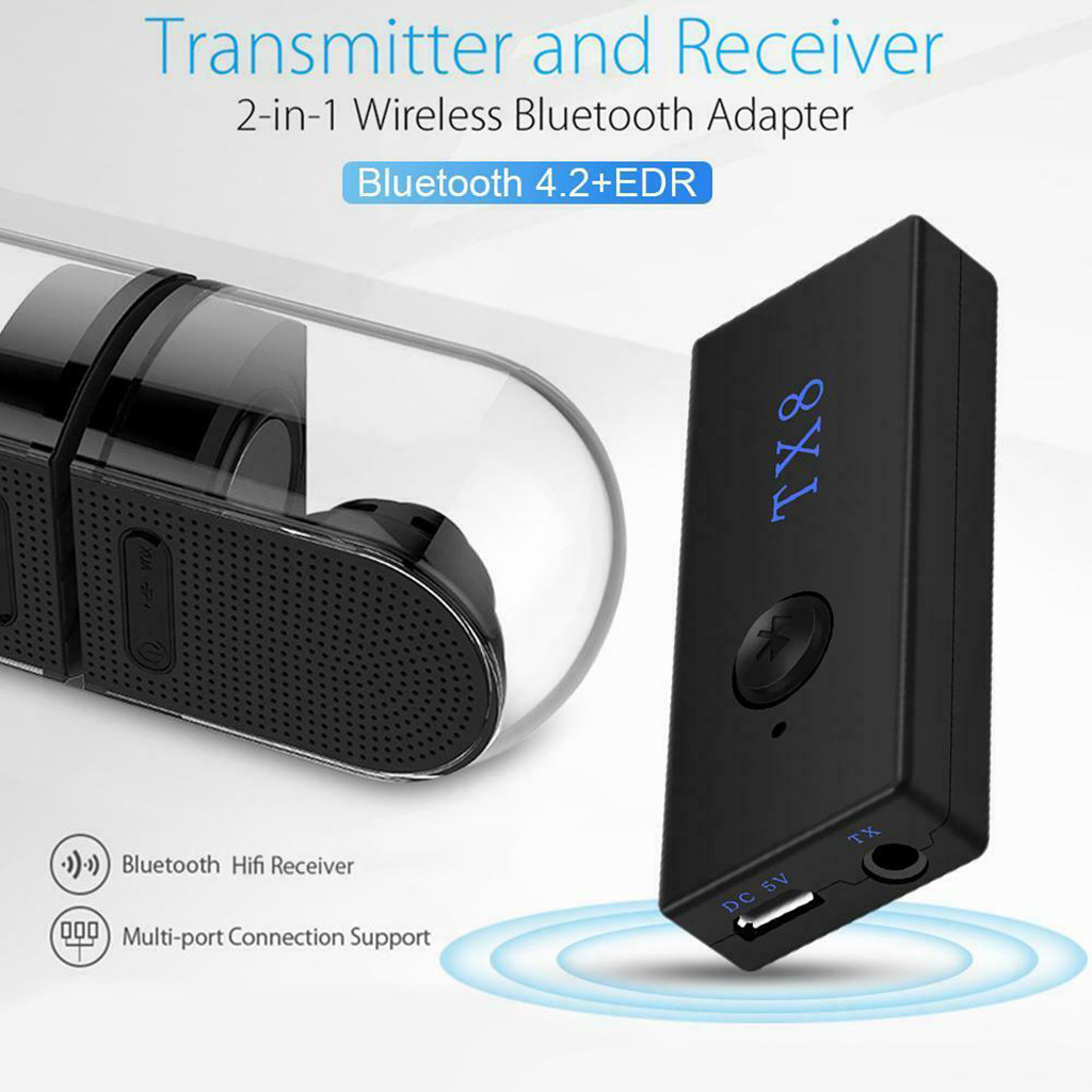 BLS-TX8 USB Bluetooth 3.0 Audio Music Transmitter Stereo Adapter For TV PC MP3