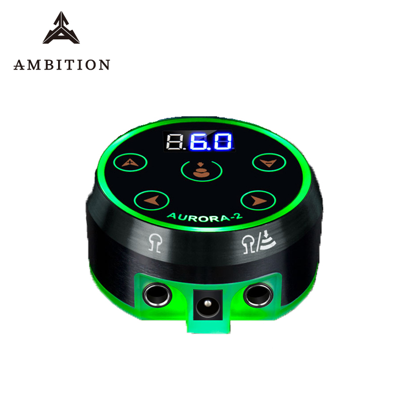 Ambition Professional Tattoo Power Supply Aurora 2 Touch Screen Source Upgrade Digital LCD New Mini LED Touch Pad Fonte Supplies