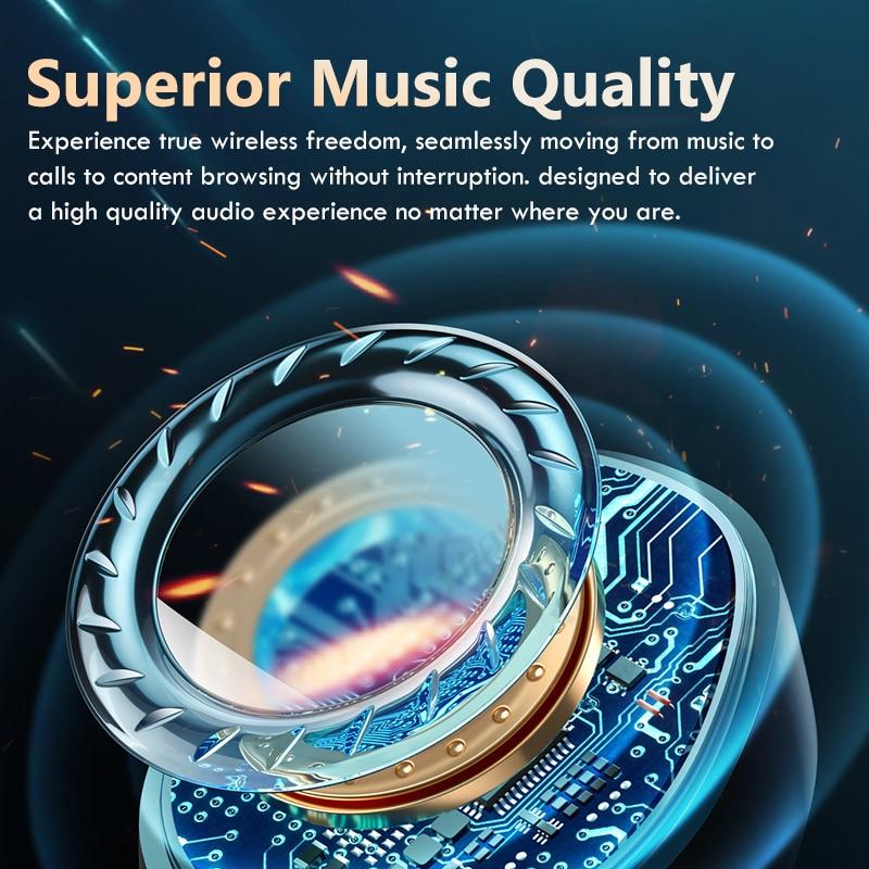 TWS Bluetooth Wireless Headphones 2200Mah Charging Box Sports Waterproof Earbuds Bluetooth 5.0 Earphone Headset With Microphone 4