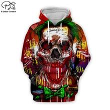 Men women 2019 haha joker art Hoodies 3D halloween skull Print Sweatshirt Funny Joaquin Phoenix Harajuku zipper pullover tshirt