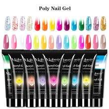 Gel polivinílico brillante para extensiones de uñas, laca para esmalte de uñas artísticas, 38 colores