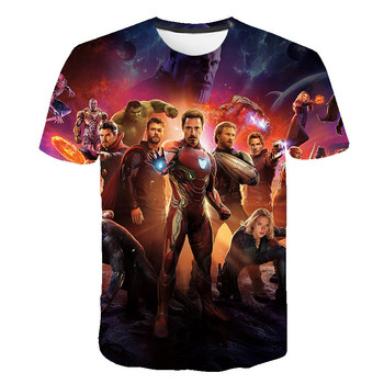 2019 NEW Marvel Avengers 4 final t shirt 3d printing superhero America T Cosplay men new summer fashion