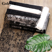 1Meter Black White Elasticity Lace Trims Ribbon Charms Skirt Colthing DIY Sewing Crafts
