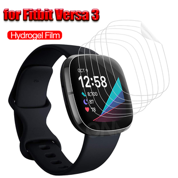 Soft film Screen Protector for Fitbit Versa 3 Full Coverage HD Protective Film for Fitbit Watch Versa3 1/3/5 pcs Sticky Easily
