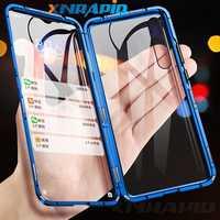 Assorbimento magnetico Metallo Custodie Per Samsung Galaxy A10 A20 A30 A40 A50 A60 A70 A80 A90 Caso di Doppia Faccia di Vetro 360 Antiurto