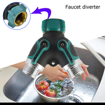 Outdoor Tap Y-shaped Watering Connector Distributor 2-Way Garden Plant Faucet Water Hose Splitter Irrigation Valve Outdoor Tap garden hose splitter connectors attachments two way outdoor adapter rubber washers watering