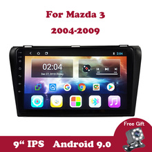 Android 9.0 IPS Car Radio Multimedia Player Navigation GPS For Mazda 3 BK 2004-2009 2G+32G No 2 din DVD Steering Wheel Control