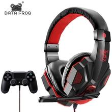 Kablolu oyun kulaklıkları için PS4/cep telefonu kulaklık mikrofon Stereo süper bas Sony PlayStation 4 PS4 kulaklık