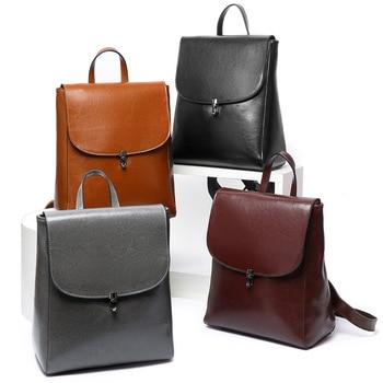 New style cowhide women's bag shoulder bag Korean fashion cowhide large capacity  women's leather bag