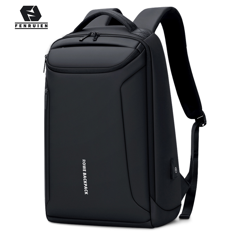 Fenruien Brand New Backpack Waterproof Oxford USB Charging Backpacks 17 Inch Laptop Bag Man Travel Backpacking Large Capacity