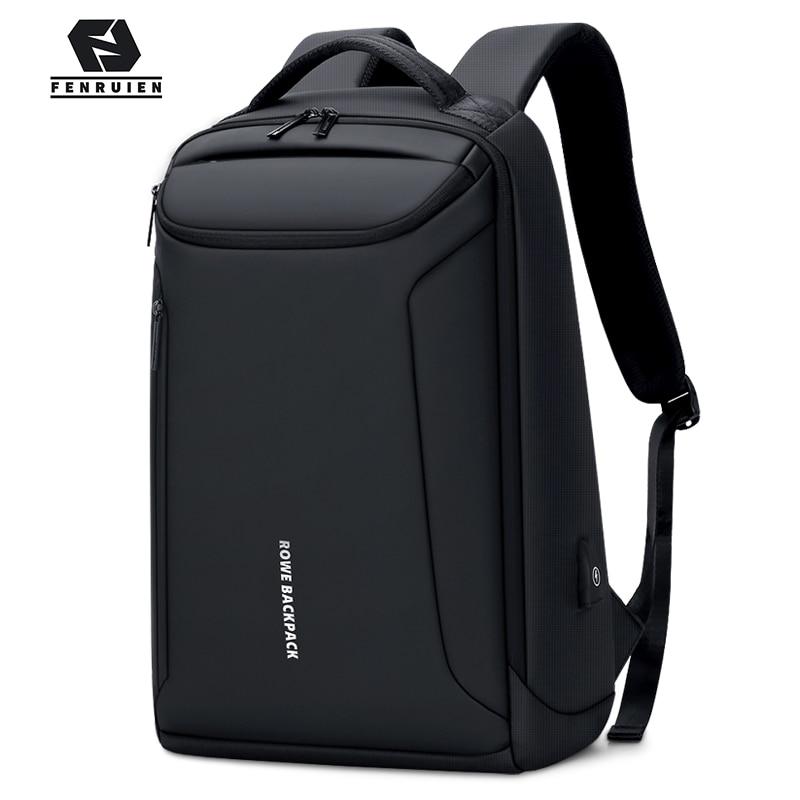 Fenruien Brand New Backpack Waterproof Oxford USB Charging Backpacks 17 Inch Laptop Bag Man Travel Backpacking Large Capacity