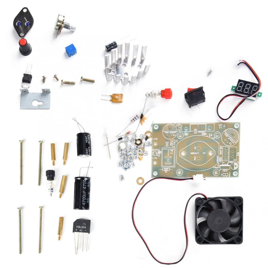 LM338K 3A Adjustable Step Down Power Supply Module DIY Kits Components