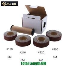 4pcs 25mm*6m Sanding Belt Drawable Emery Cloth Paper Grinding Belts Soft Sandpaper Roll for Wood Turners, Automotive