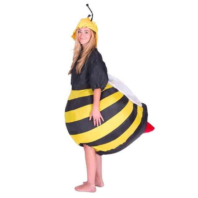 Inflatable Bumble Bee Costumes Women Men for Adults Party Carnival Cosplay Dress Blowup Outfits Halloween Purim Suits