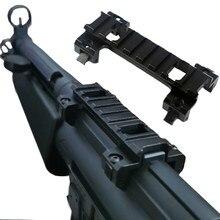 Tático 8 slot 20mm superior picatinny ferroviário garra red dot sight scope base de montagem para a caça airsoft hk mp5 gsg5 g3 hk53