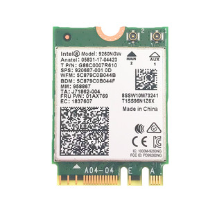 Image 2 - Dual Band Intel 9260 9260NGW 802.11ac 1730Mbps WiFi + Bluetooth 5.0+ 6dbi M.2 IPEX MHF4 U.fl RP SMA Wifi Antenna Set