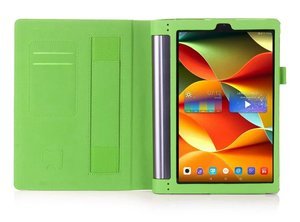Image 4 - Case Voor Lenovo Yoga Tab3 Tab 3 Plus YT X703F / Yoga3 X90 Pro X90F / L 10.1 Inch Tablet Hoge kwaliteit Flip Stand Leather Cover