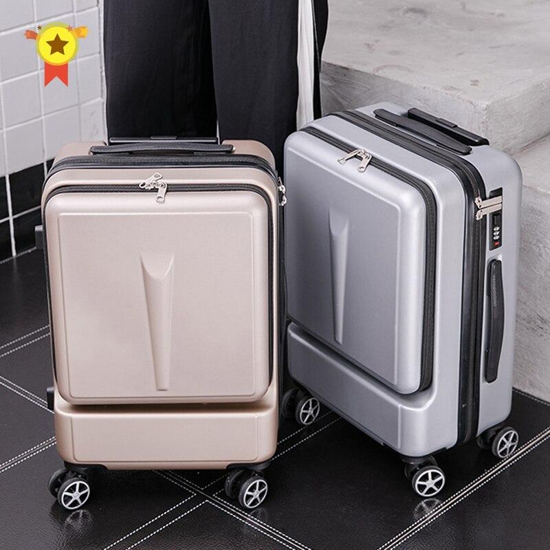 Creative Rolling Luggage Spinner Suitcase Wheels Men Trolley Women Travel Bag On Wheel 20 Inch Cabin Password Trunk