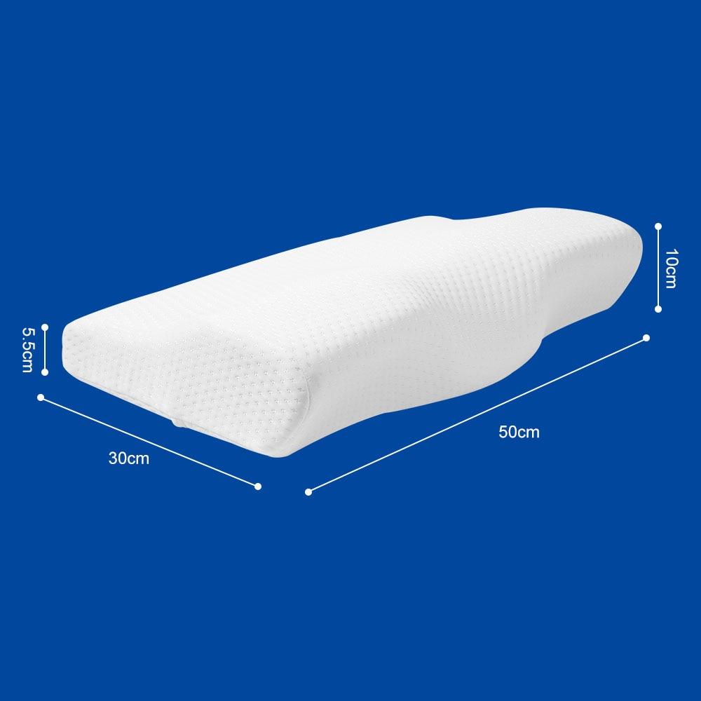 Image 5 - Tamanho cervical da saúde do descanso em forma de borboleta da espuma da memória da recuperação lenta da proteção do pescoço do descanso do fundamento da espuma da memória em 50*30 cmTravesseiros de corpo   -
