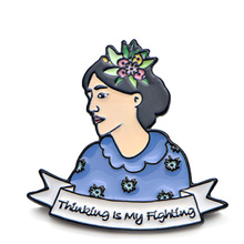 Virginia Woolf Zinc Alloy Pin for men women para Shirt Coat insignia Clothes backpack Accessory medal Badges Brooches E0193